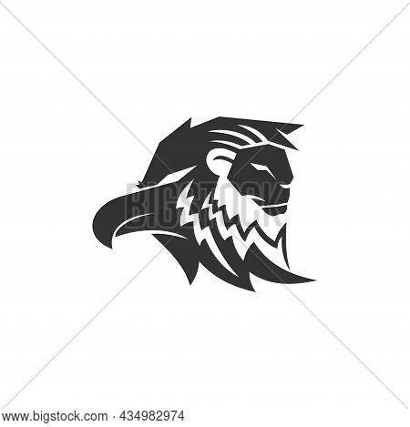 Lion Eagle Head Mascot Emblem Template Business Brand