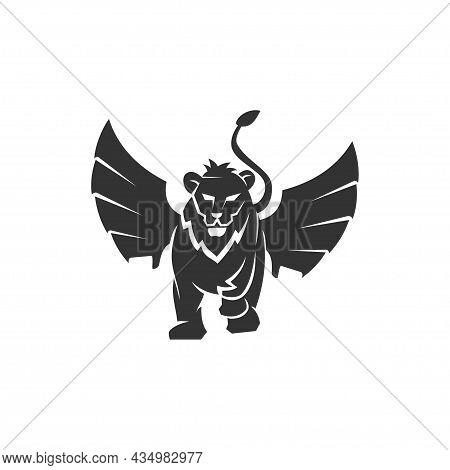 Lion Wing Emblem Mascot Illustration Emblems Elements