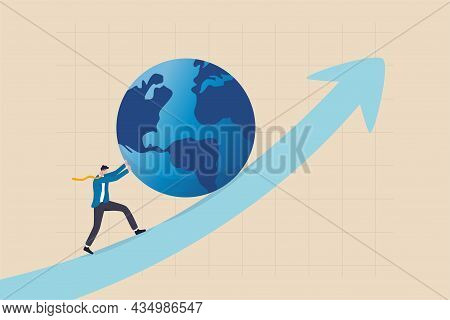 Pushing World Economic Forward, International Investment Growth Or Company Success In World Business