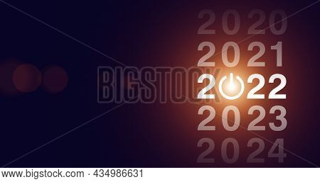New Year Concept. 2022 New Year. Happy New Year 2022. Concept For Vision 2021-2022. Businessman Welc