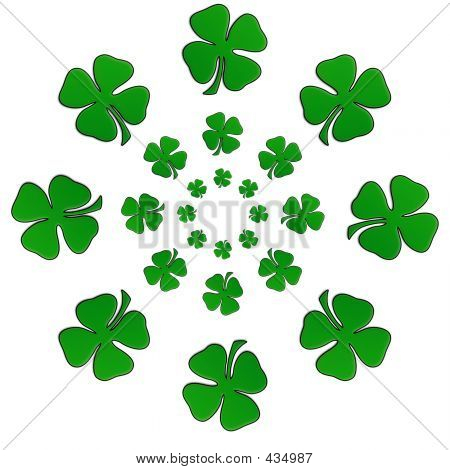 Irish Shamrock In A Circular Shape