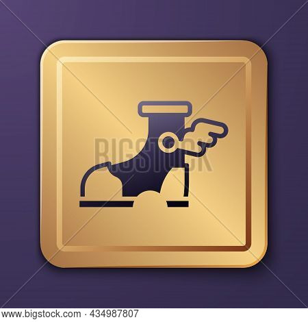 Purple Hermes Sandal Icon Isolated On Purple Background. Ancient Greek God Hermes. Running Shoe With