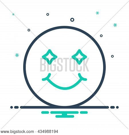 Mix Icon For Smile Laugh Smirk Simper Sneer Grin Deride Jest Emoji Happy Joy