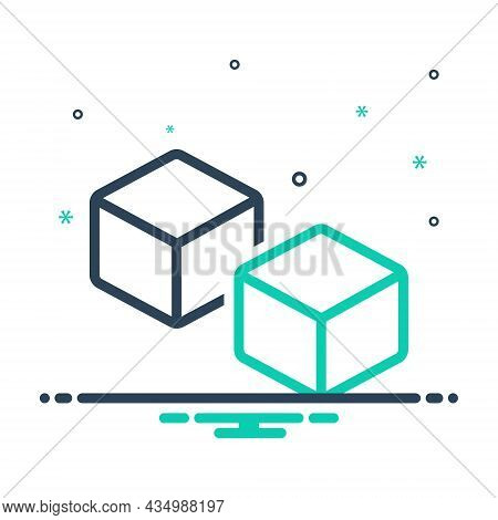 Mix Icon For Such Like Similar Duplicate Specious Dice Cube Cuboid Peice