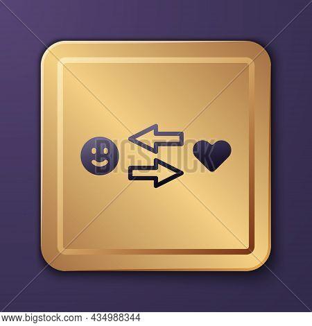 Purple Romantic Relationship Icon Isolated On Purple Background. Romantic Relationship Or Pleasant M