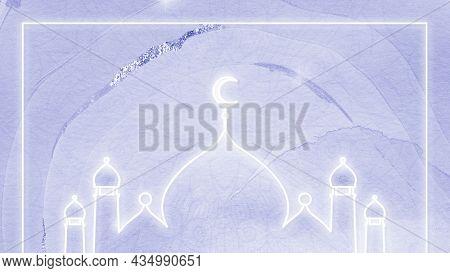 Neon white Eid Mubarak frame
