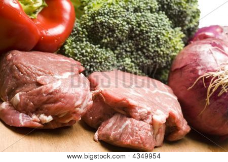 Filet Mignon Steaks With Vegetables