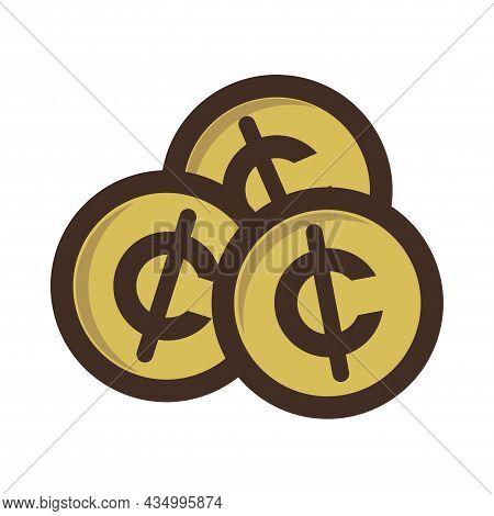 Cent Dollar Illustration Vector - Symbol Coin Money Design