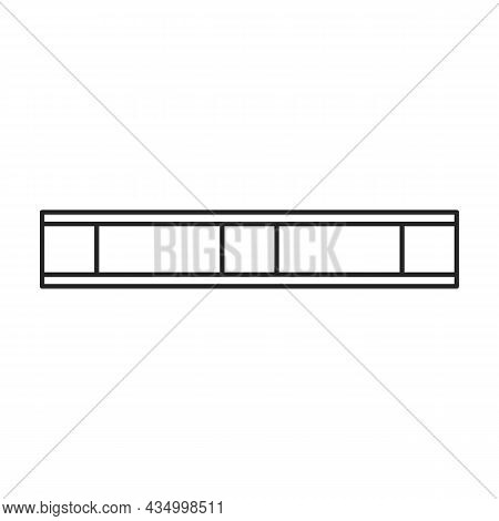 Wood Pallet Vector Icon.outline Vector Icon Isolated On White Background Wood Pallet.