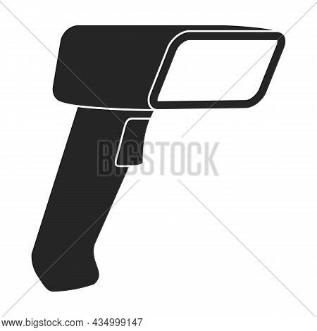 Scanner Of Code Vector Black Icon. Vector Illustration Scan Barcode On White Background. Isolated Bl