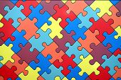 close up shot of colors puzzle background poster