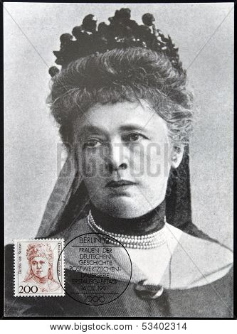 GERMANY - CIRCA 1991: A stamp printed in Germany shows Bertha von Suttner Nobel Peace Prize Winner
