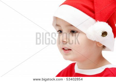 Child Face With Santa Hat