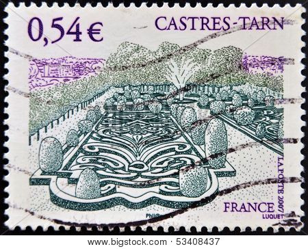 FRANCE - CIRCA 2007: A stamp printed in France dedicated to Castres Tarn circa 2007