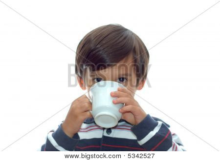 Kid Drinking From The Cup