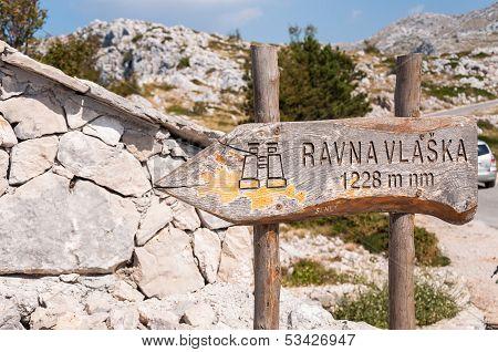 Rvana Vlaska Viewpoint Sign