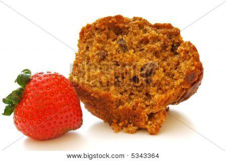 Bran Muffin and Strawberry