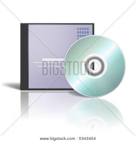 3D Render Dvd Cases On White Background