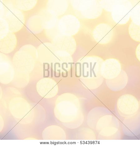 Glittering Lights Festive Background With Texture. Abstract Defocused Twinkled Lights Bokeh Backgrou