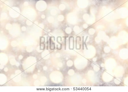 Festive  Blur Background With Snowflakes. Abstract Twinkled Bright Background With Bokeh Defocused W