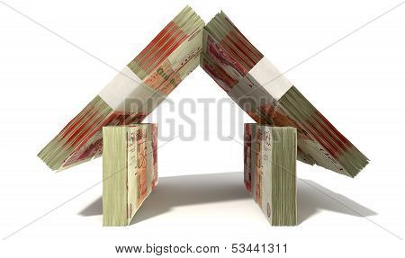 British Pound Notes House Front