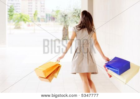 Young Woman And Shopping