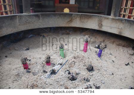 Incense Burner Outside Tokyo Temple