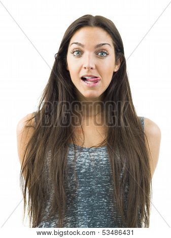 funny young woman