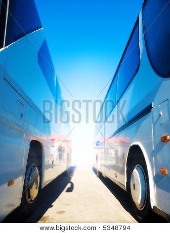 Two Tourist Buses