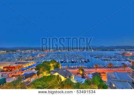 Ibiza San Antonio Abad Sant Antoni Portmany sunset in Balearic islands