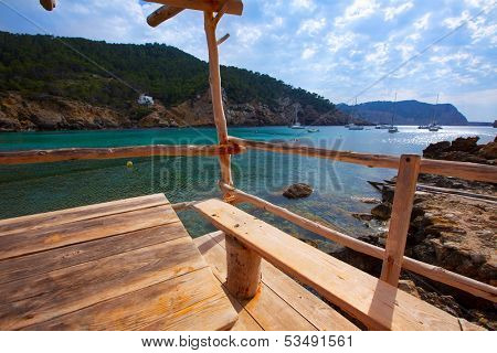 Ibiza Port de Benirras at Balearic Islands of Spain