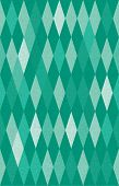 abstract green harlequin argyle vector seamless pattern with lozenge elements, that look like diamonds or emeralds poster