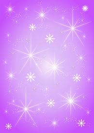 Background stars on purple