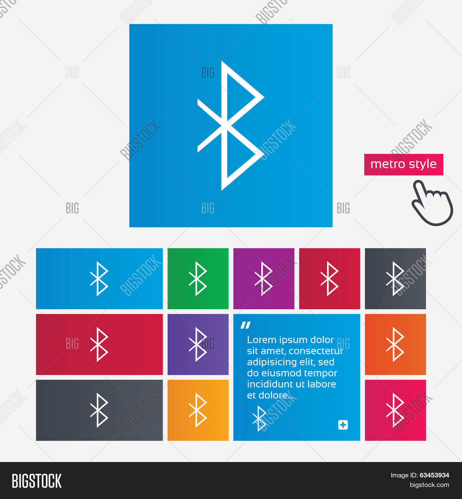 Bluetooth Sign Icon Vector Photo Free Trial Bigstock
