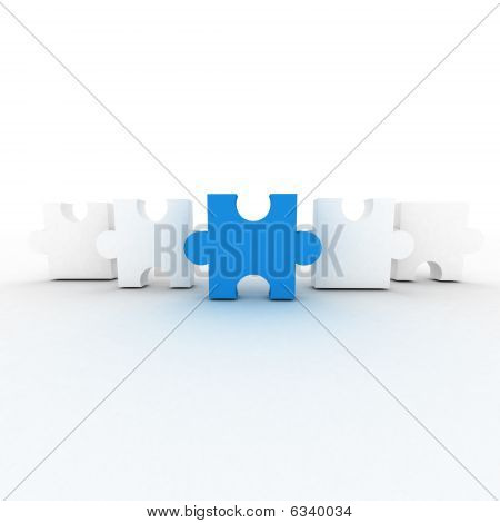 White And Blue Puzzles
