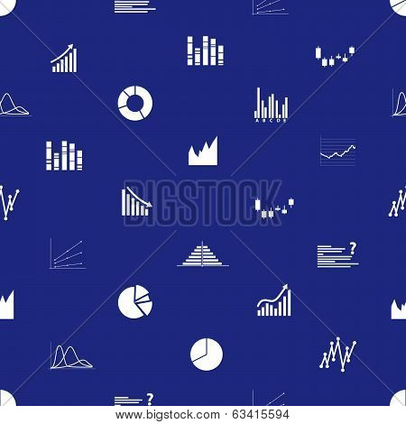 graphs icons seamless pattern eps10