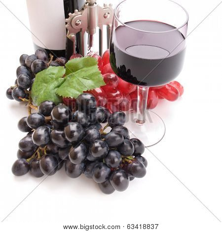 A glass of wonderful and delicious red semisweet wine poster