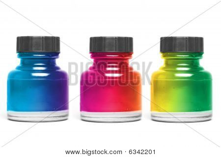 colorful bottle paint