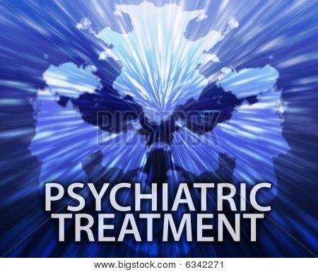 Psychiatric Treatment Inkblot Background