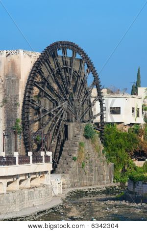 Waterwheel In The City Of Hama