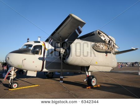 Navy Airplane With Folded Wings
