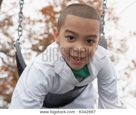 Hispanic boy playing