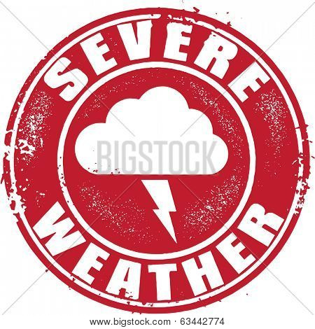 Severe Weather Icon Sign