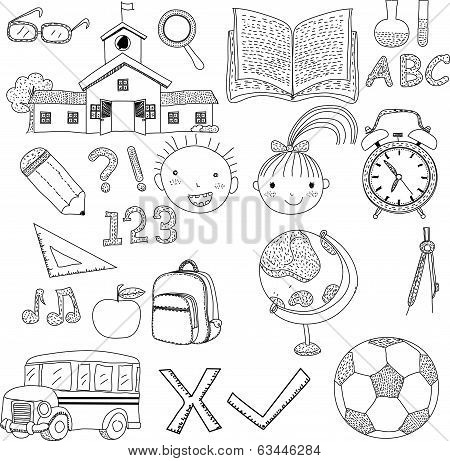 vector illustration of a back to school background,cartoon