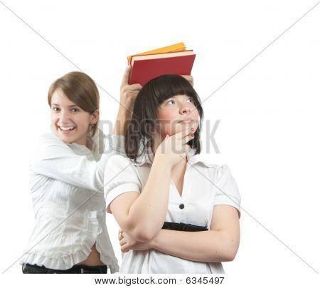 Two Joy Shoolgirls