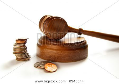 Coins And Gavel
