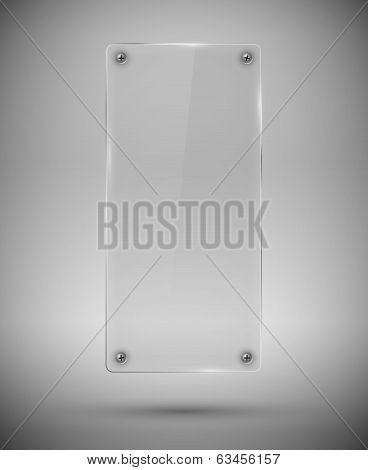 Glass framework. Vector illustration.