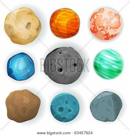 Comic Planets Set