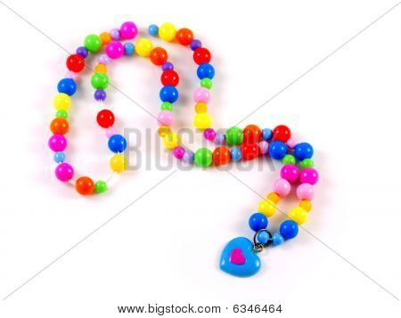 Plastic Multi-colored Beads Isolated On White