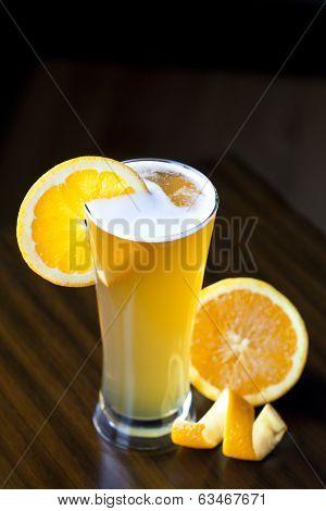 Belgium Wheat Ale With Orange Slice